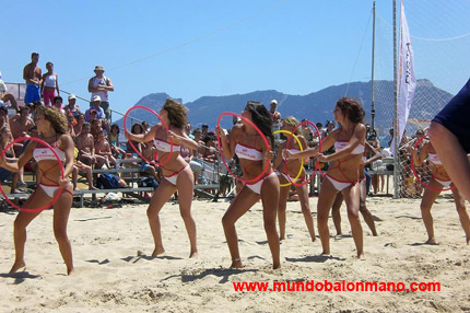 chicas de balonmano playa chearleaders