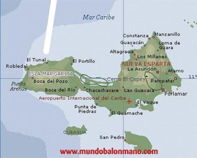 mapa de isla margarita historia del balonmano