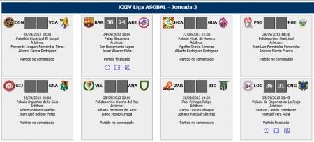jornada 3 liga asobal
